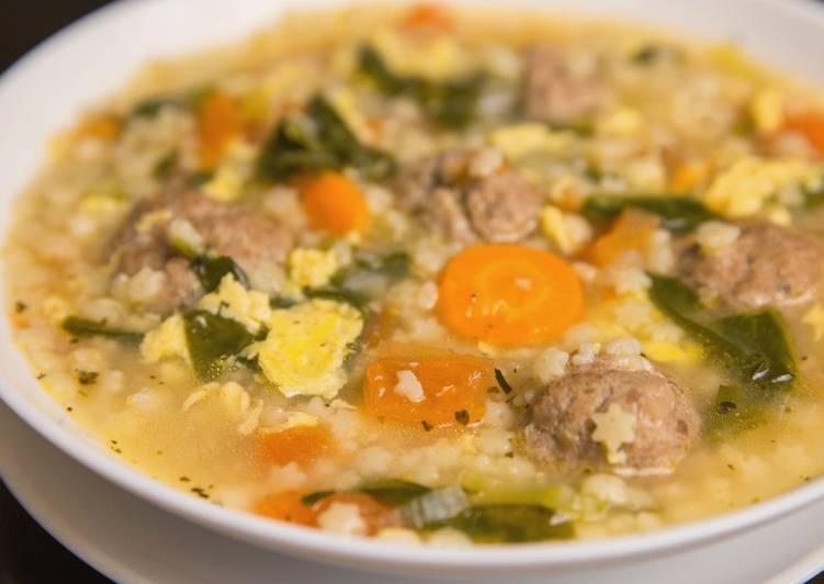 Italian Wedding Soup With Meatballs Recipe By Glibz Cookpad
