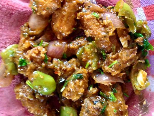 Home made Healthy and Declious Chinese recipe its Babycorn Manchurian made by me...