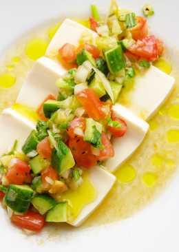 Tofu with summer veggies & olive oil ✨🍅