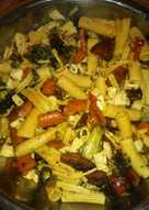 Roasted (or grilled) pasta salad