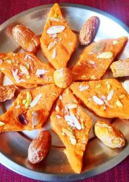 Carrot dates barfi