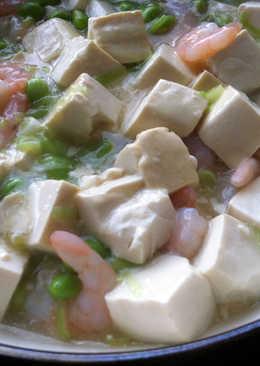 Braised Tofu with Prawns & Edamame