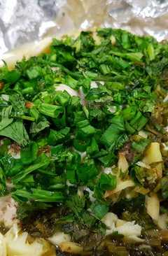 resep masakan steamed chicken in fresh coriander and chinese celery