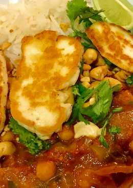 Halloumi and Cashew Curry