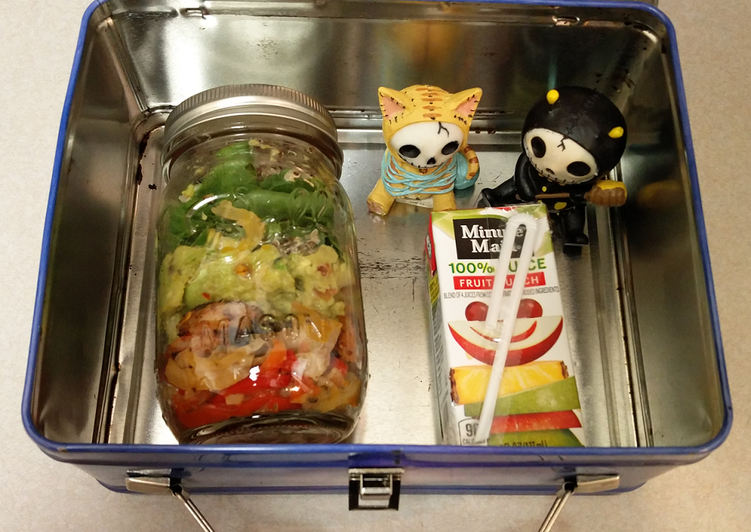 Cajun Shrimp Salad Jar