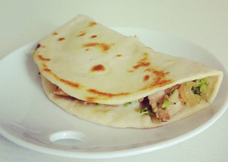 Chicken and Broccoli Quesadilla
