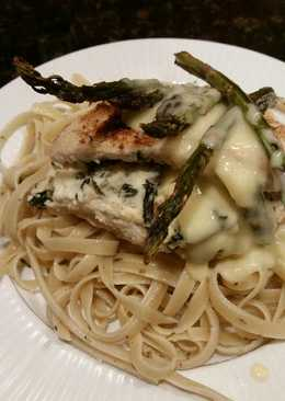 Brad's stuffed chicken florentine