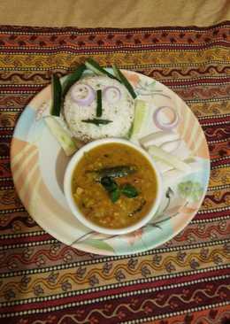 Samber Chawal with salad