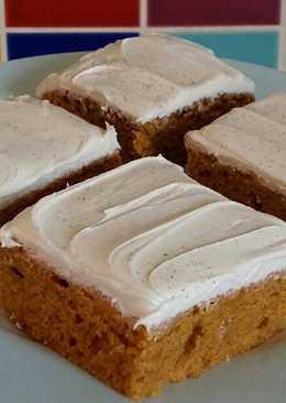 Vickys Iced Pumpkin Dump Cake, GF DF EF SF NF