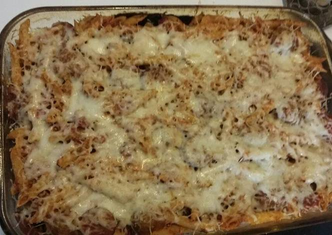 Resep Baked Ziti with Meatballs and Sausage