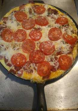 Breakfast Pizza low carb