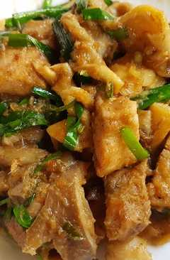 resep masakan thai stir fry lemongrass chicken mushroom