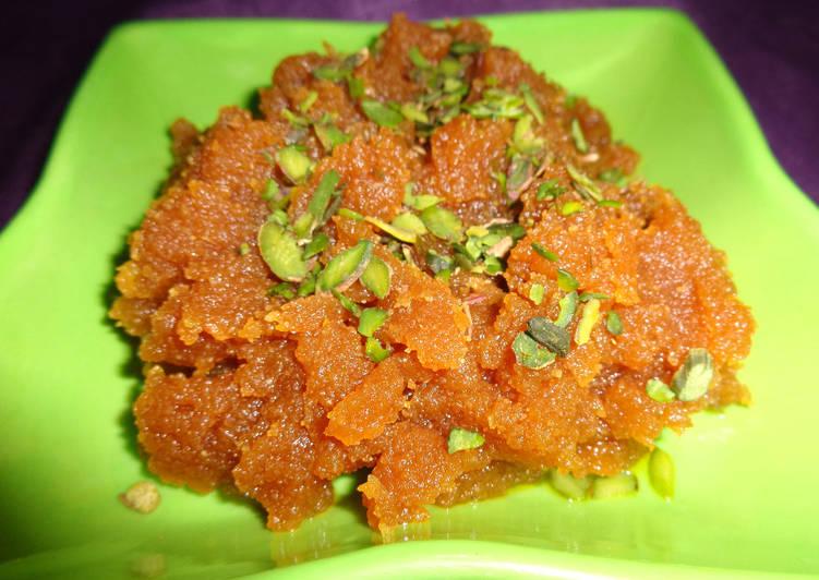 Instant Moong dal halwa Recipe by Sandhya Sharma - Cookpad