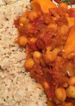 Sweet Potato & Chickpea Curry -Vegan
