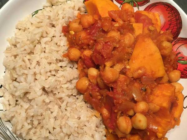 Sweet Potato & Chickpea Curry -Vegan