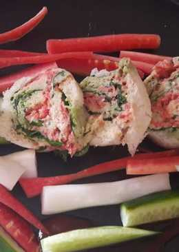 Pinwheel tricolour sandwich