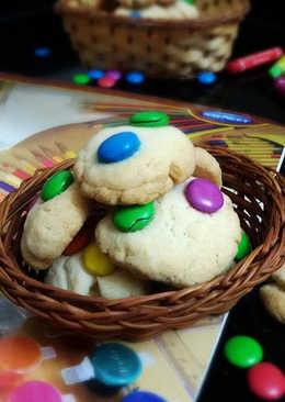 Cabdury Gems Cookies (Eggless,Butterless)