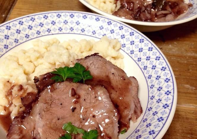 Resep Pork Sauerbraten (Swabian Style)