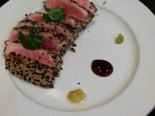 Brad's sesame crusted seared ahi tuna
