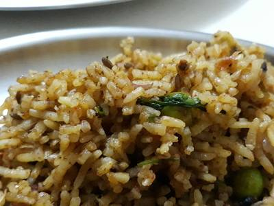 Zatpat pulao with leftover rice