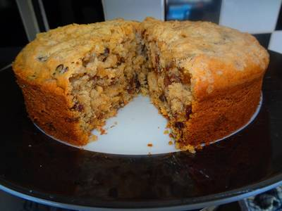 Coconut, Walnut & Cherry Fruit Cake