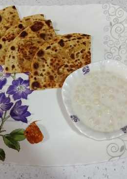 Winter favourite breakfast aloo paratha