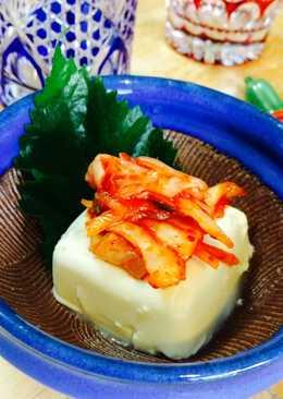 Kimchi tofu (kimuchi tofu)