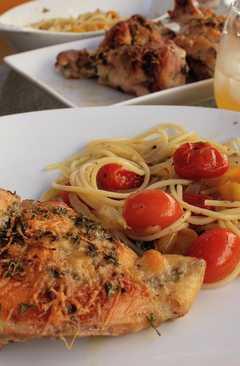 resep masakan easy italian dressing roast chicken fresh tomato sauce