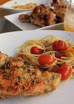 Easy Italian Dressing Roast Chicken & Fresh Tomato Sauce