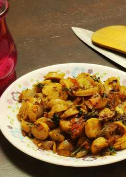 Sausage Koottan- A desi touch to the western staple