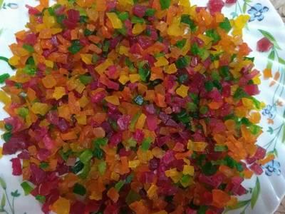Homemade tutti frutti