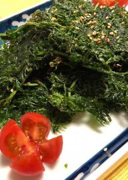 Carrot Leaves Fry (Japanese taste)