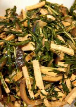 Sauté Dry tofu and garlic chive 韭菜炒豆干#家常快炒##Vegan#