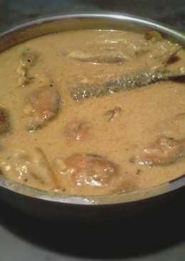 Brinjal hilsha curry