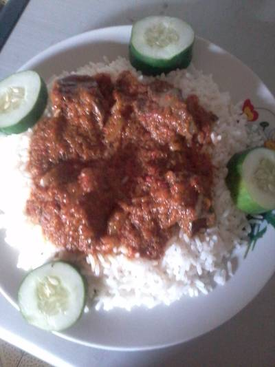 White Rice and Carrot Stew