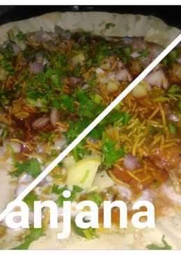 Leftover roti ki sev Puri(papdi Chaat)