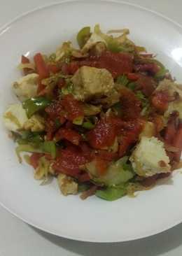 Oil free sauted paneer & mix veg