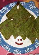Spinach and moong dal cheela