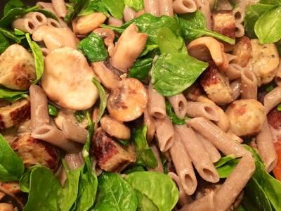 Speedy Mushroom & Sausage Pasta