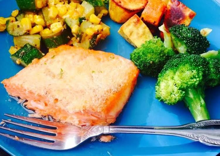 Lemon Parmesan Salmon