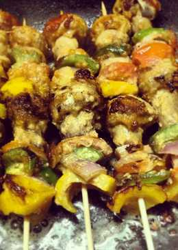 Mushrooms and Vegetables on Skewers