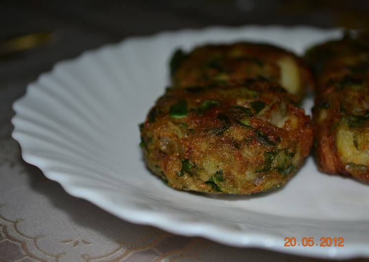 Gingery Spinach Kabab