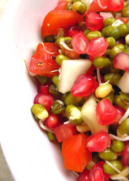 Sprouts and Pomegranate Salad