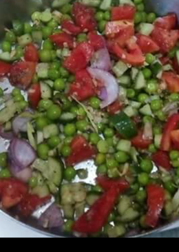 Protein rich peas chaat