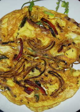 Spicy Omlette with Rappini