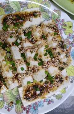 resep masakan tofu with soy sesame dressing