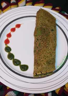 Oats Pesarattu/ Oats spinach Green Moong Dal Dosa /
