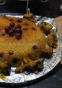 Persian sour cherry pilaf (Albaloo polow)