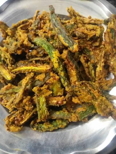 Besan wali kurkuri bhindi