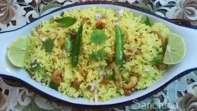 Raw Mango Rice/Mamidi Kaya Pulihora